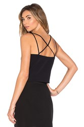 Milly Emery Cross Back Tank Black