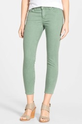 Big Star 'Alex' Colored Stretch Twill Ankle Skinny Jeans Green