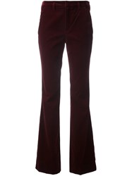 Sonia Rykiel By Velvet Effect Flared Trousers