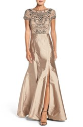 Adrianna Papell Women's Embellished Mesh And Taffeta Ballgown