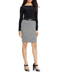 Lauren Ralph Lauren Houndstooth Two Piece Dress Black White