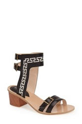 Plomo Raquel Embroidered Sandal Black