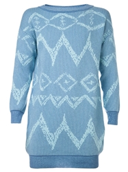 Baja East 'Ikat Graffiti' Tunic Blue