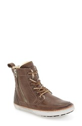Blackstone Women's 'Cw96' Genuine Shearling Lined Sneaker Boot Gull Leather