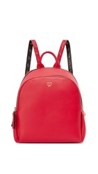 Mcm Polke Studs Backpack Ruby Red