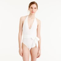 J.Crew Deep V Wrap One Piece Swimsuit