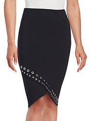 Romeo And Juliet Couture Grommet Pencil Skirt Black