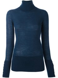 Steffen Schraut Fine Knit Turtleneck Jumper Blue