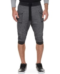 2Xist 2 X Ist Athleisure Men's Cropped Cargo Pants Black Heather
