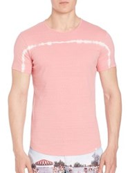 Orlebar Brown Tie Die Lightweight Cotton T Shirt Light Coral