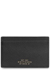 Smythson Leather Card Holder Black