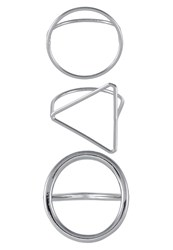 Cheap Monday 3 Pack Ring Rhodium Silver