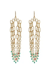 Aurelie Bidermann Aurelie Bidermann Sioux Gold Plated Pendant Earrings