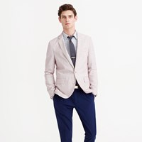 J.Crew Ludlow Summerweight Cotton Linen Blazer In Fine Stripe