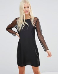 Jdy Lace Sleeve Dress Black