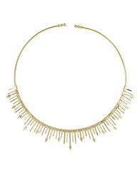 Noir On Point Cubic Zirconia Collar Necklace Gold