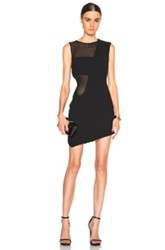 Jay Ahr Mesh Insert Tank Dress In Black