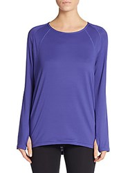 Andrew Marc New York Crossover Back Top Ultra Violet
