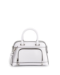 Milly Astor Pebbled Dome Satchel Bag White