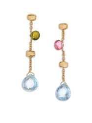 Marco Bicego Paradise Semi Precious Multi Stone And 18K Yellow Gold Drop Earrings Gold Multi