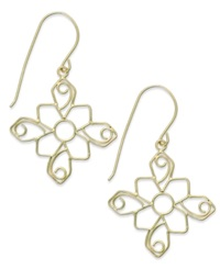 Macy's 14K Gold Earrings Filigree Drop Earrings