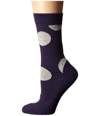 Smartwool Polk A Dot Crew Mountain Purple Heather Women's Crew Cut Socks Shoes Metallic