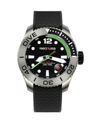 Red8usa Dive Automatic Titanium And Rubber Strap Watch Green Black Multi