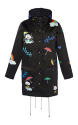 Mira Mikati Rain Rain Go Away Coat Black