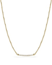 David Yurman Petite Pave Metro Chain Necklace With Diamonds In Gold Gold White