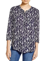 Nydj Chevron Print Blouse 100 Bloomingdale's Exclusive Feather