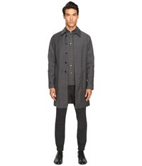 Todd Snyder Double Face Trench Grey Men's Coat Gray