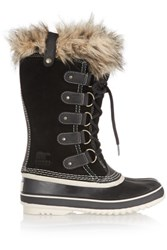 Sorel Joan Of Arctic Waterproof Suede And Leather Boots Black