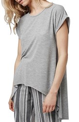 Topshop Women's Split Back High Low Tee