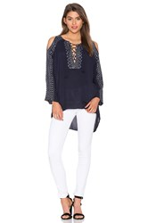 525 America Embroidered Tunic Navy