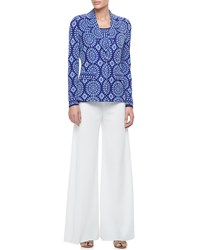 Misook Palazzo Fit And Flare Pants Petite Women's White