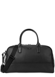 Boss Element Black Leather Holdall