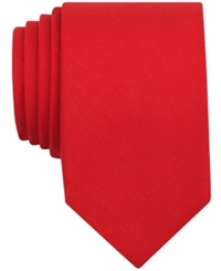 Bar Iii Carnaby Firth Solid Skinny Tie Red