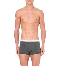 Dsquared Maple Leaf Stretch Cotton Trunks Dark Grey Melange