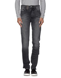 John Galliano Denim Denim Trousers Men Black