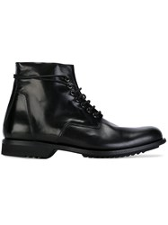 Rick Owens Lace Up Ankle Boots Black