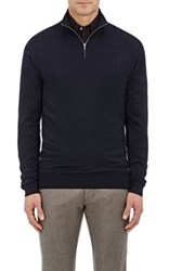Ermenegildo Zegna Men's Wool Mock Turtleneck Sweater Navy