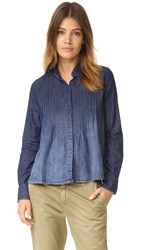 Current Elliott The Lucy Tuck Blouse Fadeaway