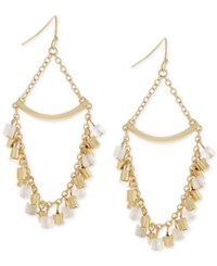 Bcbgeneration Gold Tone Shaky Bead Chandelier Earrings