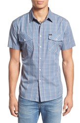 Brixton Men's 'Memphis' Trim Fit Plaid Short Sleeve Woven Shirt