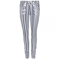Paige Edgemont Ultra Skinny Mid Rise Jeans White Navy Cyprus Stripe