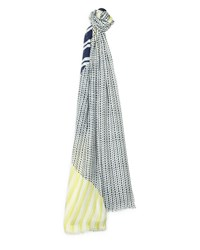 Jaeger Broken Stripe Scarf Yellow