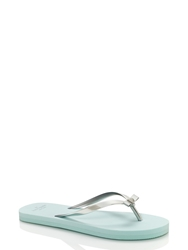 Kate Spade Happily Ever After Sandals Silver Light Blue