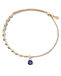 Alex And Ani Precious Metals Evil Eye Fancy Bead Pull Chain Bracelet Gold Filled
