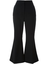 Stella Mccartney Cropped Flared Trousers Black