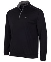Greg Norman For Tasso Elba Men's 1 4 Zip Golf Pullover Deep Black